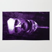 poe Area & Throw Rugs featuring E. A. Poe by Scar Design