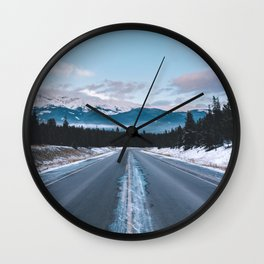 Icefields Parkway, AB II Wall Clock