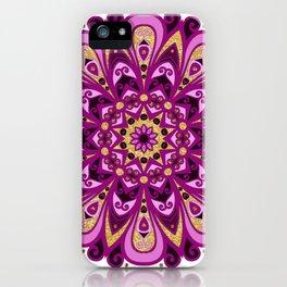 Magenta Madness Mandala iPhone Case
