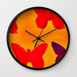 float like a butterfly 4 Wall Clock
