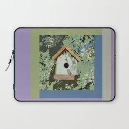 Birdhouse in barnwood, blue sage green taupe Laptop Sleeve