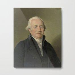 Adriaan de Lelie - Portrait of Cornelis Sebille Roos, Art Dealer in Amsterdam and Inspector of the N Metal Print
