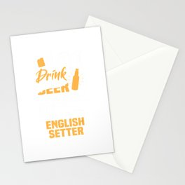 Drink Beer And Hang With My English Setter Funny Dog Lover Stationery Cards