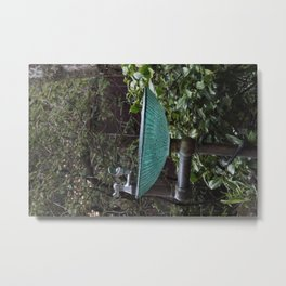 Glass Bowl Water Fountain Metal Print