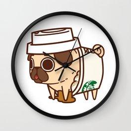Puglie Pugkin Spice Latte Wall Clock