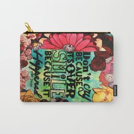 Love Quote (flowers diamonds wisdom) Carry-All Pouch