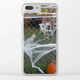 Spiderweb Pup Clear iPhone Case