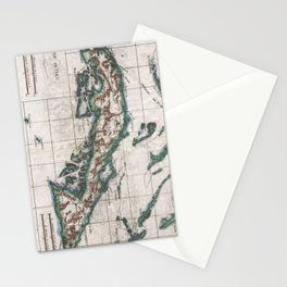 Vintage Map of Cuba (1780) Stationery Cards