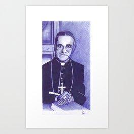 Monseñor Romero Art Print
