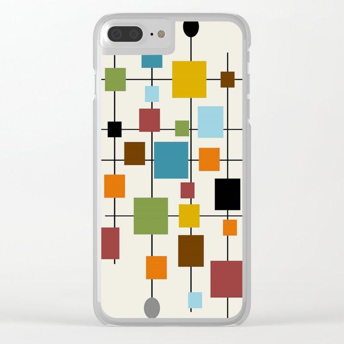 Mid-Century Modern Art 1.3 Clear iPhone Case