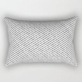 Binary Code - diagonal version Rectangular Pillow