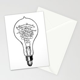 "Ode to the Bulb - ""lights are on"" Stationery Cards"