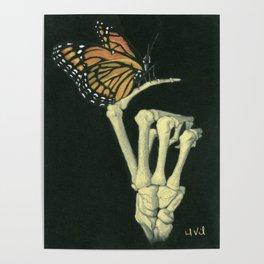 Butterfly & Bones Poster