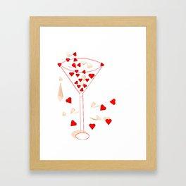 Cocktail heart Framed Art Print