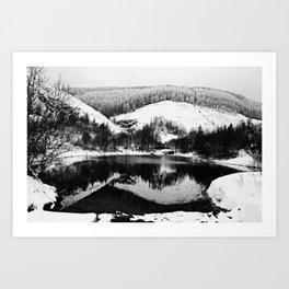 Snow lite reflection Art Print