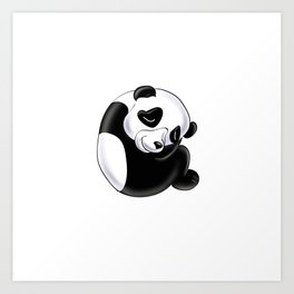 a Is For . . . Panda In The Animal Alphabet Art Print