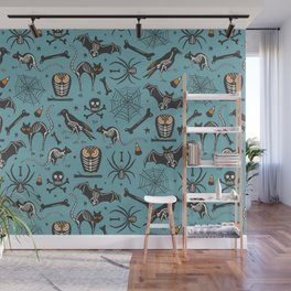 Halloween X-Ray Blue Wall Mural
