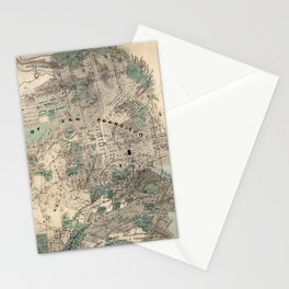 Map of San Francisco 1869 Stationery Cards