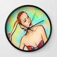 iggy Wall Clocks featuring Iggy Azaela by Enna