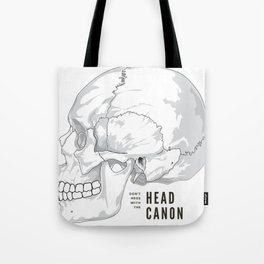 Headcanon Tote Bag