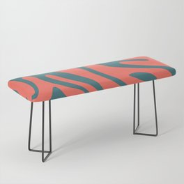 Living Coral in the Deep Sea - Pantone Color Trend 2019 Bench