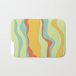 Curly lines of colour pattern Bath Mat