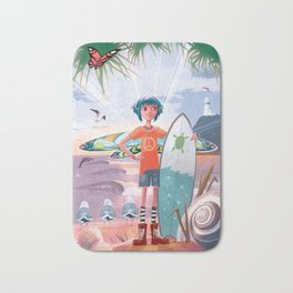 The Adventures of Lola and the Ocean Monster Bath Mat