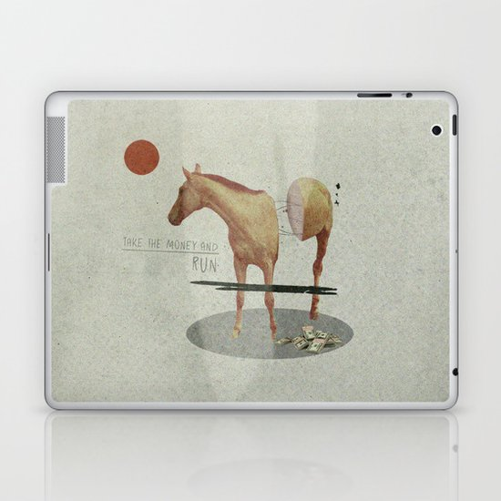 Take The Money and Run Laptop & iPad Skin