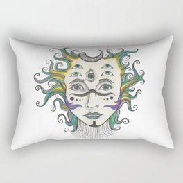 my head feels like a frisbee Rectangular Pillow