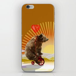 Big Bear with bicycle iPhone 4 4s 5 5s 5c, ipod, ipad, pillow case and tshirt iPhone Skin
