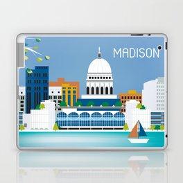 Madison, Wisconsin - Skyline Illustration by Loose Petals Laptop & iPad Skin