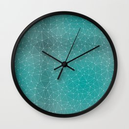 Triangulated Marrs Green Dotted Pattern Wall Clock