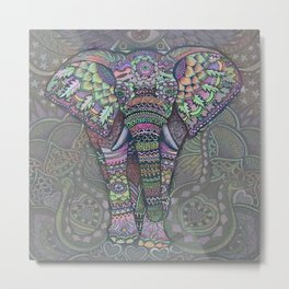 Elephant Spirit by Julie Oakes Metal Print