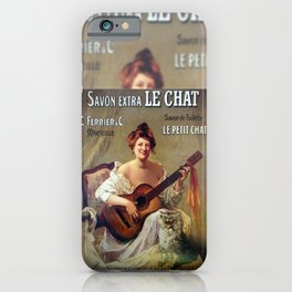Le Savon. Vintage French Poster iPhone Case