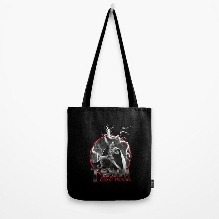 Tesla: God of Thunder Tote Bag