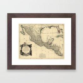 Vintage Map of Mexico (1779) Framed Art Print