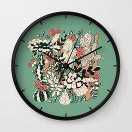 Scculents Wall Clock