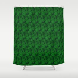 Hand Painted Monstera Deliciosa Tropical Houseplant Art Shower Curtain