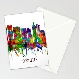 Delhi India Skyline Stationery Cards