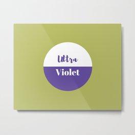Ultra violet pantone Metal Print