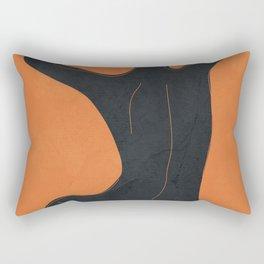 Abstract Nude I Rectangular Pillow