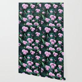 Tropical Peonies Dream #1 #floral #foliage #decor #art #society6 Wallpaper