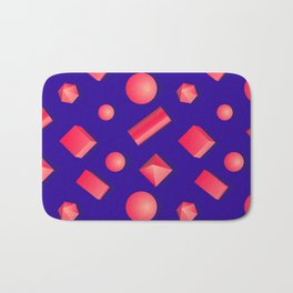 Colorful pattern of geometric shapes. Bath Mat