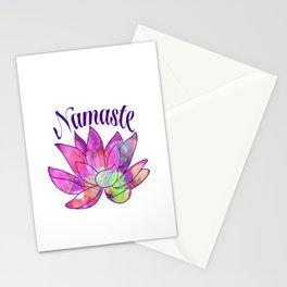 Namaste Lotus Stationery Cards