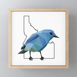 Idaho – Mountain Bluebird Framed Mini Art Print