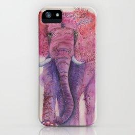 Ink Animals of Africa - Pink Ellie iPhone Case