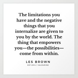 36  |  Les Brown  Quotes | 190824 Art Print