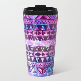 Head In Space | Girly Andes Aztec Pattern Pink Teal Nebula Galaxy Travel Mug