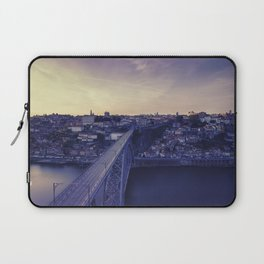 Porto across the bridge. Laptop Sleeve