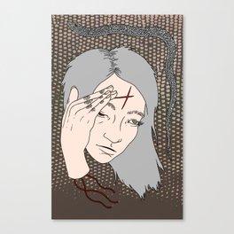 Finger Scrapes Canvas Print